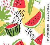 minimal summer trendy vector... | Shutterstock .eps vector #1112664629