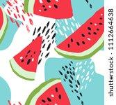 minimal summer trendy vector... | Shutterstock .eps vector #1112664638