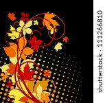Autumnal leaves background with bright colors for seasonal design. Jpeg version also available in gallery - stock vector