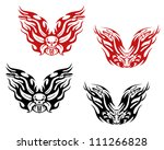 Bikers and bikes tattoos in tribal style, such a logo. Jpeg version also available in gallery - stock vector