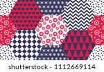 xmas naive winter symbols... | Shutterstock .eps vector #1112669114