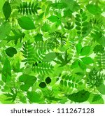 Beautiful abstract green leaves environmental nature background - stock photo