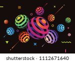 abstract vector background with ... | Shutterstock .eps vector #1112671640