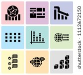 set of 9 simple editable icons... | Shutterstock .eps vector #1112672150