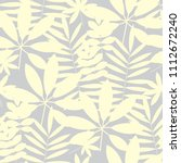 pale ivory color tropical... | Shutterstock .eps vector #1112672240