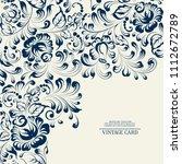 khohloma style floral pattern.... | Shutterstock .eps vector #1112672789