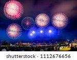 kobe fireworks festival in... | Shutterstock . vector #1112676656