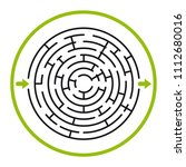labyrinth in vector. labyrinth... | Shutterstock .eps vector #1112680016
