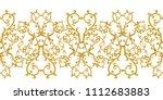 seamless pattern. golden...   Shutterstock . vector #1112683883