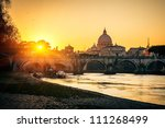 View At Tiber And St. Peter\'s...