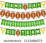 american football bunting flags ... | Shutterstock . vector #1112686073