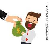 hand grabbing money bag | Shutterstock .eps vector #1112699150