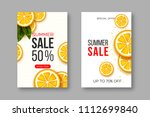 summer sale banners with sliced ... | Shutterstock .eps vector #1112699840