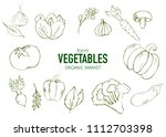 healthy food banner collection. ... | Shutterstock .eps vector #1112703398