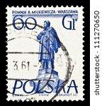 poland   circa 1955  a stamp... | Shutterstock . vector #111270650