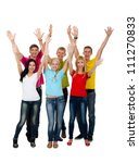 group of excited people happy... | Shutterstock . vector #111270833