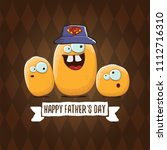 happy fathers day greeting card ... | Shutterstock .eps vector #1112716310