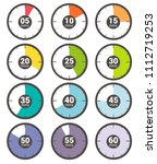 colourful set of vector... | Shutterstock .eps vector #1112719253