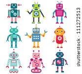 robots vector set   Shutterstock .eps vector #111272513