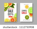 summer sale banners with sliced ... | Shutterstock .eps vector #1112733908
