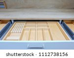 wooden kitchen cutlery trays... | Shutterstock . vector #1112738156