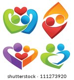 symbols of love and lovers ... | Shutterstock .eps vector #111273920