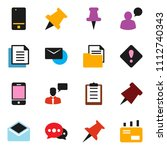 solid vector ixon set   paper... | Shutterstock .eps vector #1112740343