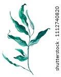 watercolor illustration green... | Shutterstock . vector #1112740820