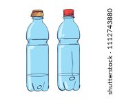 empty plastic bottle.... | Shutterstock .eps vector #1112743880