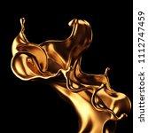 luxury beautiful gold splash.... | Shutterstock . vector #1112747459