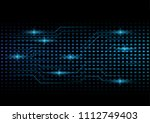 abstract futuristic data and... | Shutterstock .eps vector #1112749403