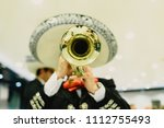 mexican musician with his... | Shutterstock . vector #1112755493