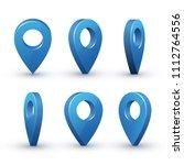 3d Map Pointer Set. Maps Pin...