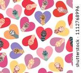 seamless pattern of multi... | Shutterstock .eps vector #1112768996