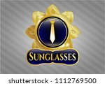 shiny badge with necktie icon ... | Shutterstock .eps vector #1112769500