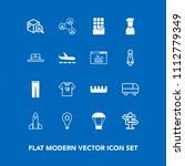 modern  simple vector icon set...   Shutterstock .eps vector #1112779349