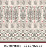 traditional seamless black red... | Shutterstock . vector #1112782133