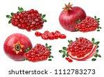 fresh pomegranate isolated on... | Shutterstock . vector #1112783273