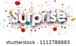 surprise paper banner with... | Shutterstock .eps vector #1112788883