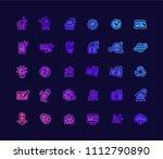 color gradient web design icons ... | Shutterstock .eps vector #1112790890