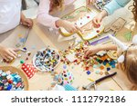 the mosaic puzzle art for kids  ...   Shutterstock . vector #1112792186