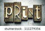 print concept  retro vintage... | Shutterstock . vector #111279356