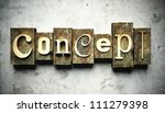 Design concept, retro vintage letterpress type on grunge background - stock photo