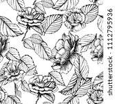 seamless pattern cute hand... | Shutterstock .eps vector #1112795936