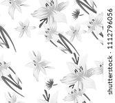 seamless flower garder liliya...   Shutterstock .eps vector #1112796056