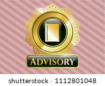 gold shiny badge with book... | Shutterstock .eps vector #1112801048