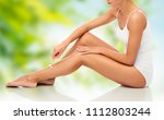 people  beauty  depilation and... | Shutterstock . vector #1112803244
