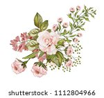watercolor drawing of a branch... | Shutterstock . vector #1112804966