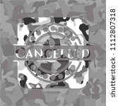 cancelled grey camouflaged...   Shutterstock .eps vector #1112807318