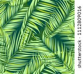 palm seamless pattern. exotic... | Shutterstock .eps vector #1112809016